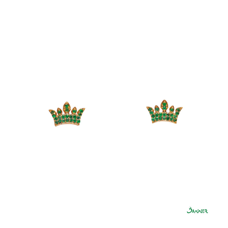 Emerald Crown Earrings