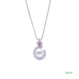 Pearl and Diamond Ka -Note Pendant