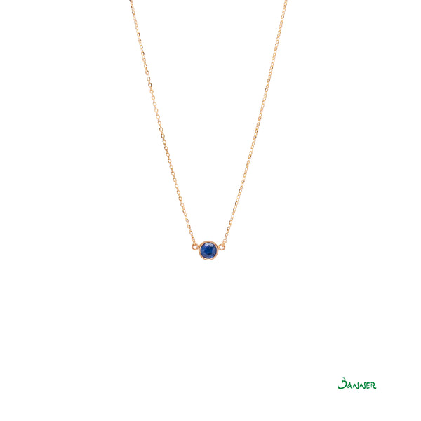 Sapphire Solitaire Necklace