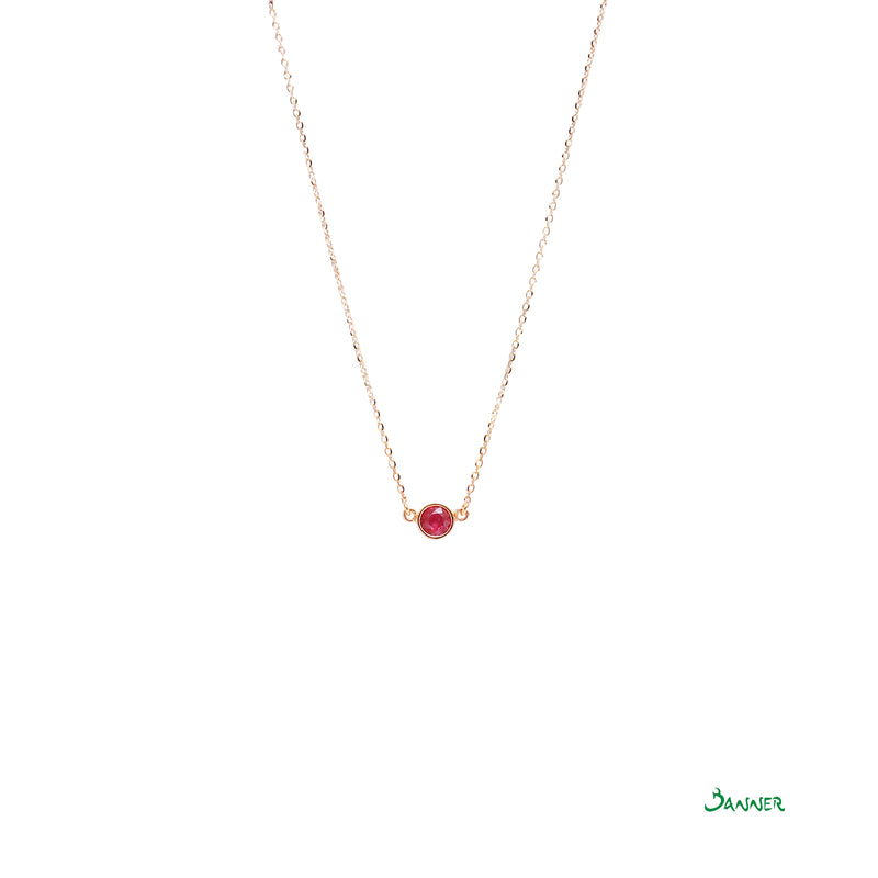 Ruby Solitaire Necklace