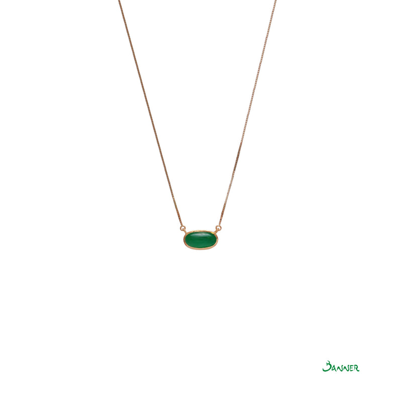 Jade Solitaire Necklace