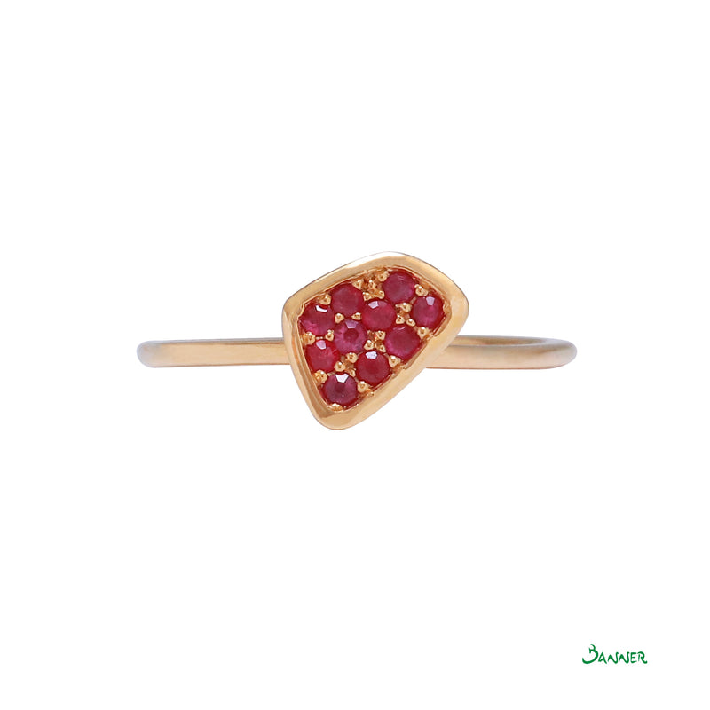 Ruby  Petite Pave Ring