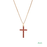Ruby Cross Pendant