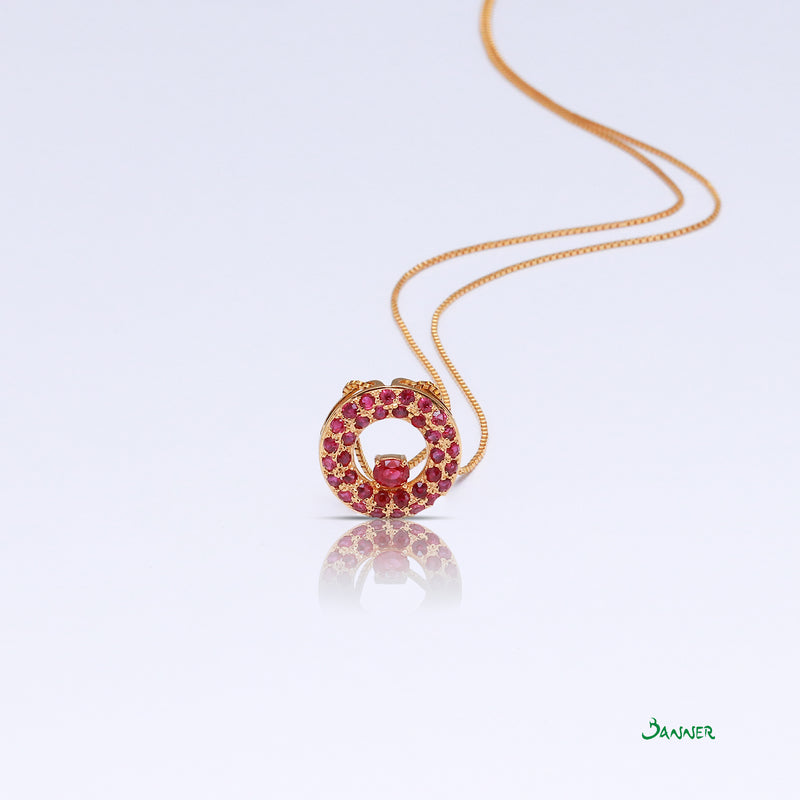 Orbit Ruby Pendant
