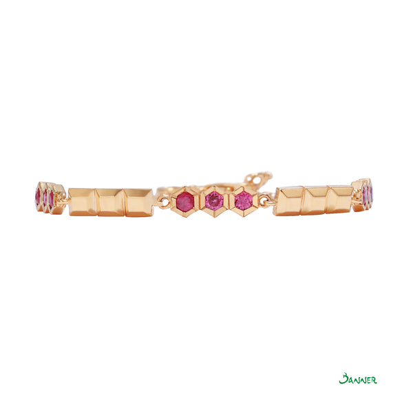 Ruby and 18k Gold Bracelet