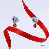 Hnin-Si Ruby and Diamond Earrings