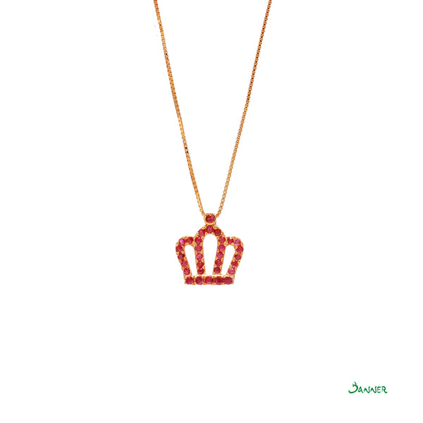 Ruby Crown Pendant