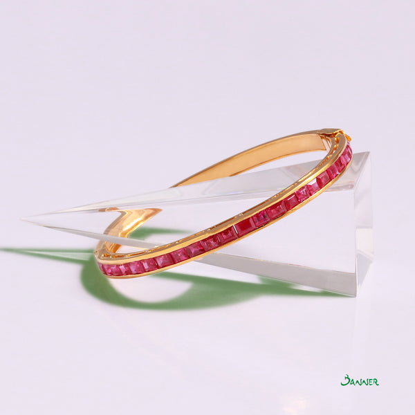 Ruby Emerald-cut Bracelet