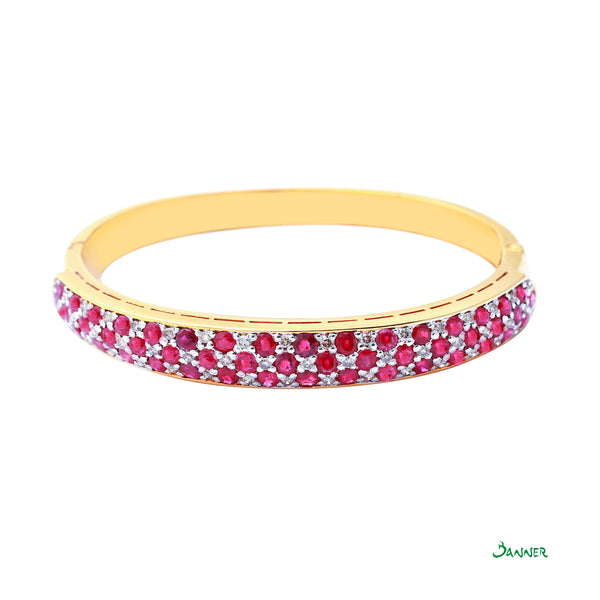 Ruby and Diamond Kyar-Kwat Bracelet