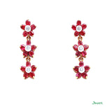 Ruby and Diamond Pan Tone- Sint Earrings