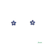 Sapphire and Diamond Chel Earrings