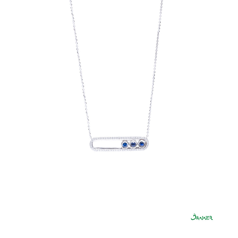 Sapphire and Diamond Moving Necklace