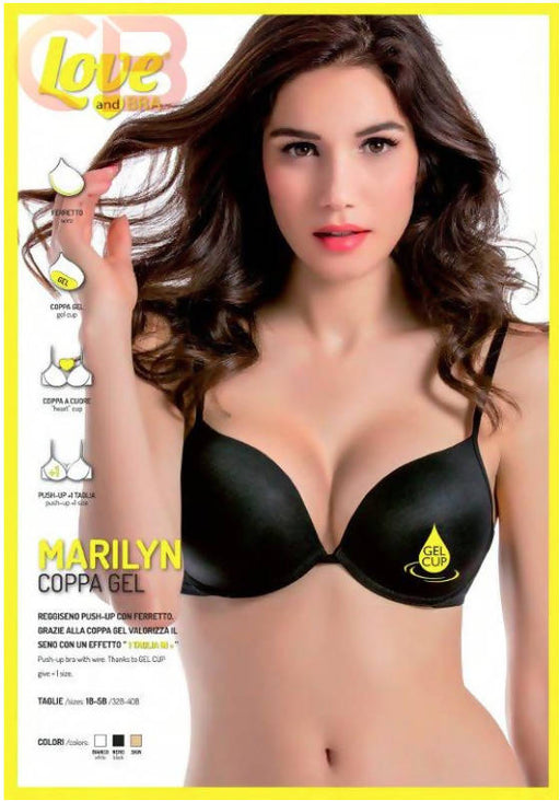 art. marilyn LOVE AND BRA reggiseno push-up coppa gel intimo donna L'Orchidea - Siderno, Commerciovirtuoso.it