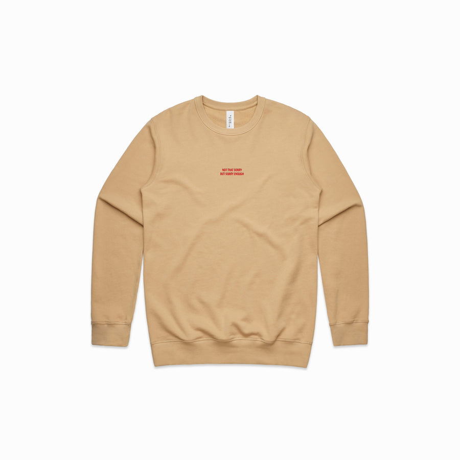 NOT THAT SORRY CREW SWEATER