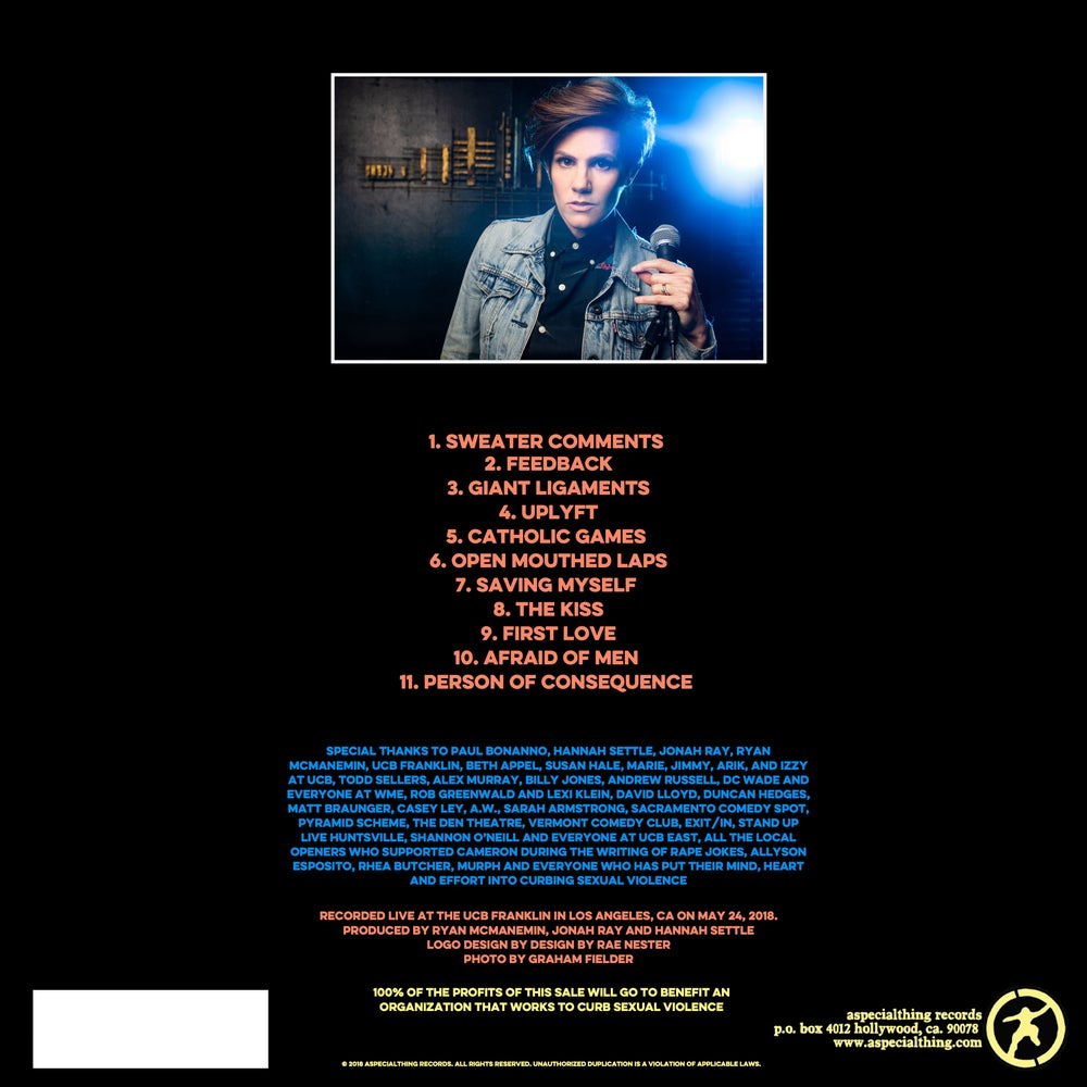 "Load image into Gallery viewer, CAMERON ESPOSITO - LIMITED EDITION 12"" VINYL LP - RAPE JOKES"