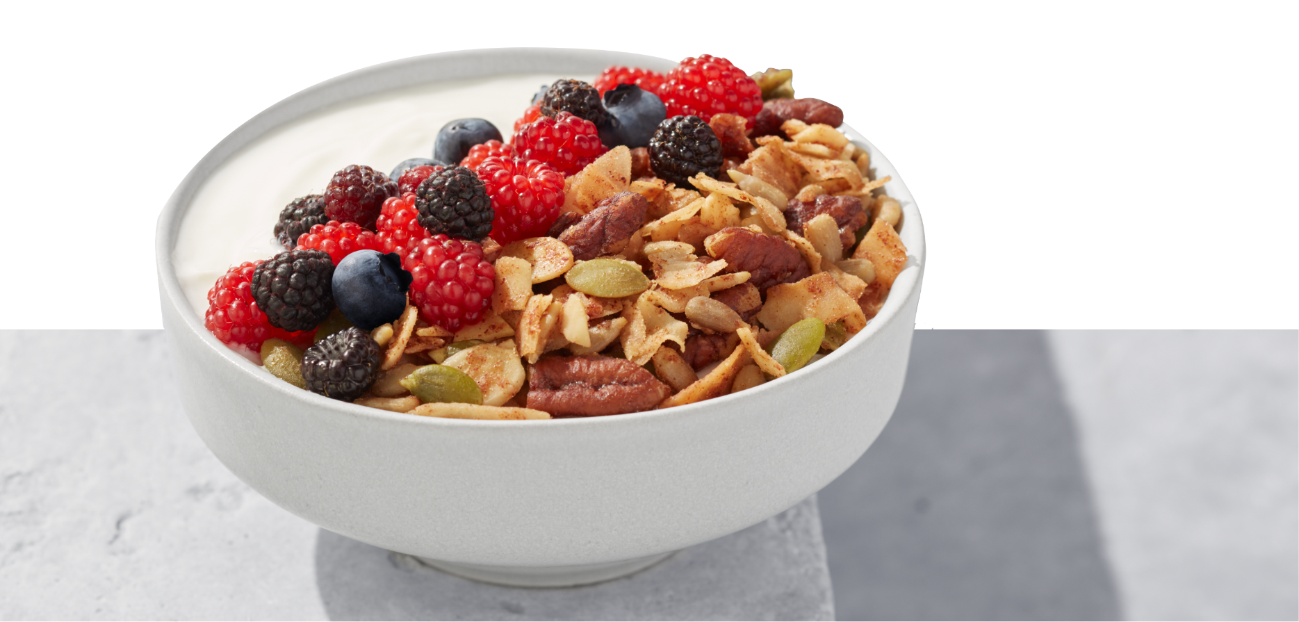 Keto Nut Granola with berries and milk is the ultimate keto breakfast