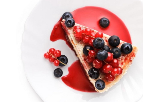 a slice of cheesecake on a plate keto fat bombs