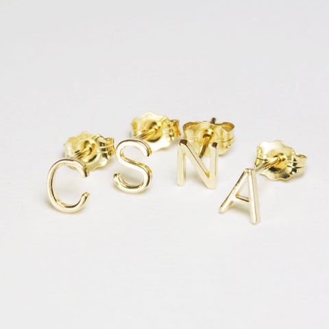 Custom Letter Stud Earrings - ONE EARRING