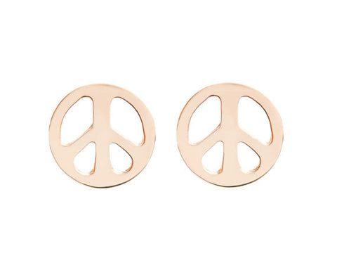 Peace Sign Stud - One Pair