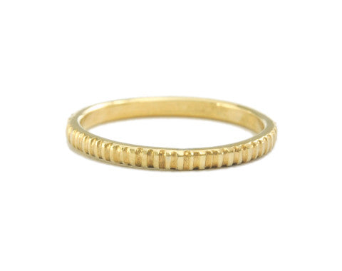Milled Gold Ring