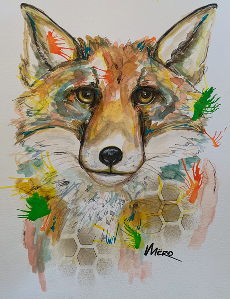 Aquarelle - Fox - 001