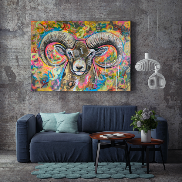 Toile galerie - Animaux | Powerful colors 002