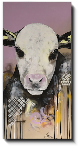 Toile galerie - Animaux | Vache 002