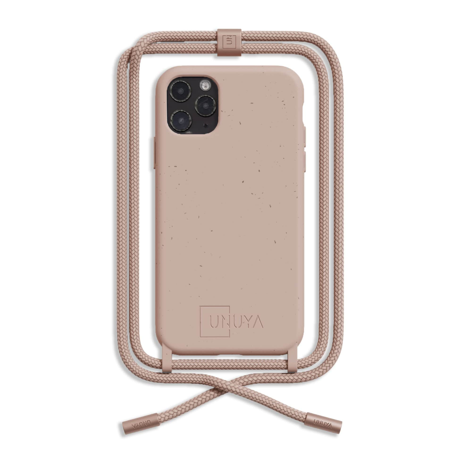 Biodegradable iPhone case - nude + rope