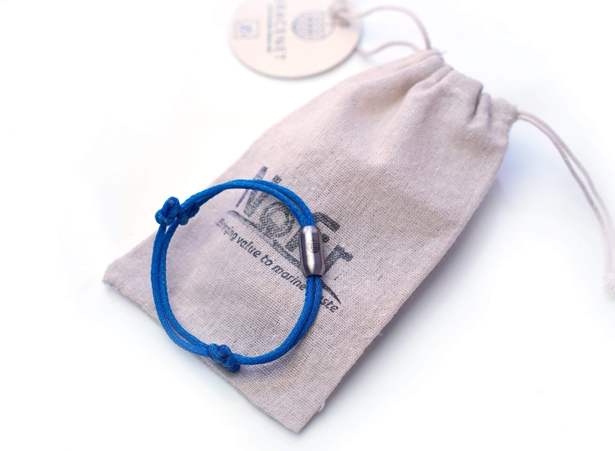 sustainable gifts Bracenet Upcycled fishing nets bracelet - Arctic Sea