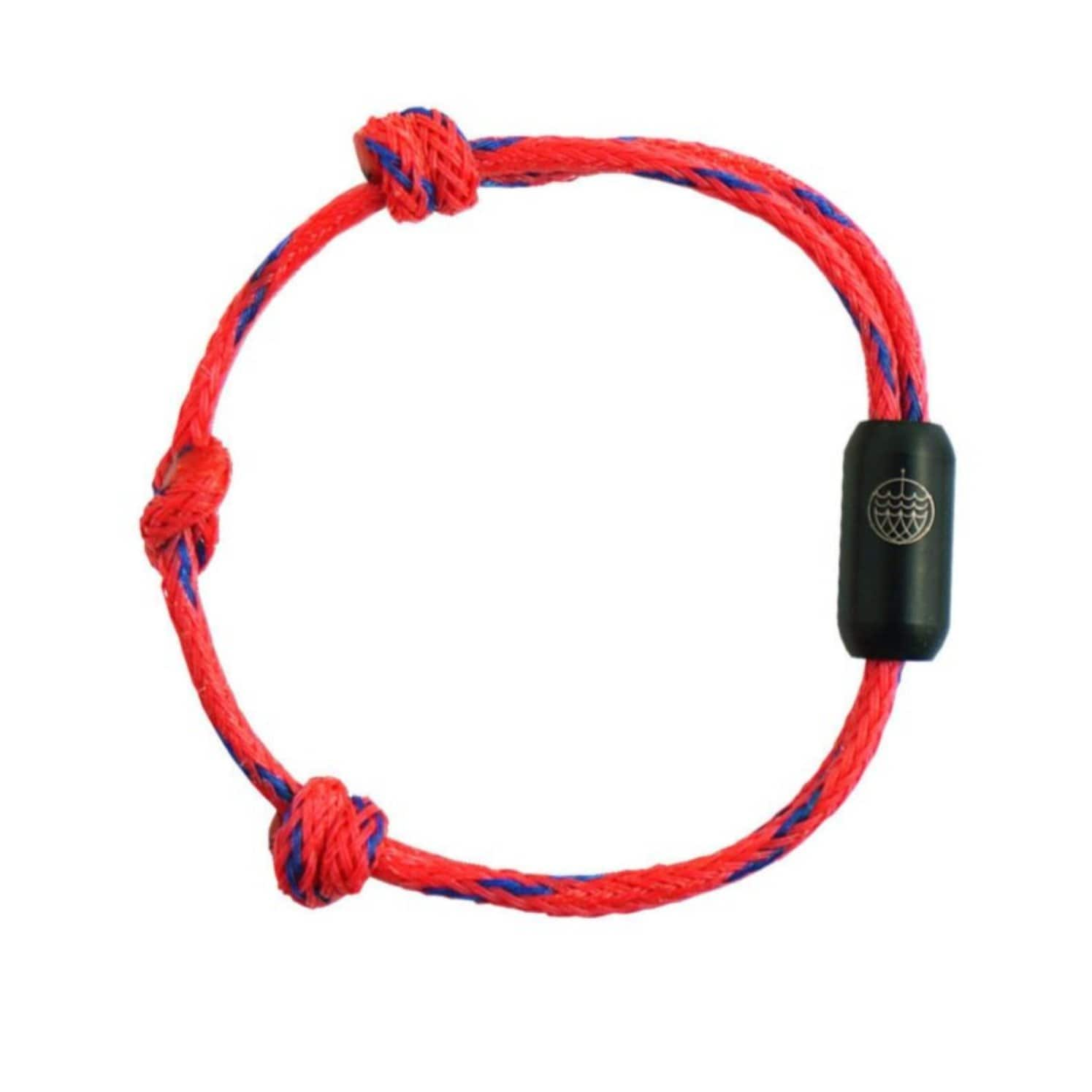 Bracenet sustainable plastic free bracelet eco friendly made of old red recycled fishing nets