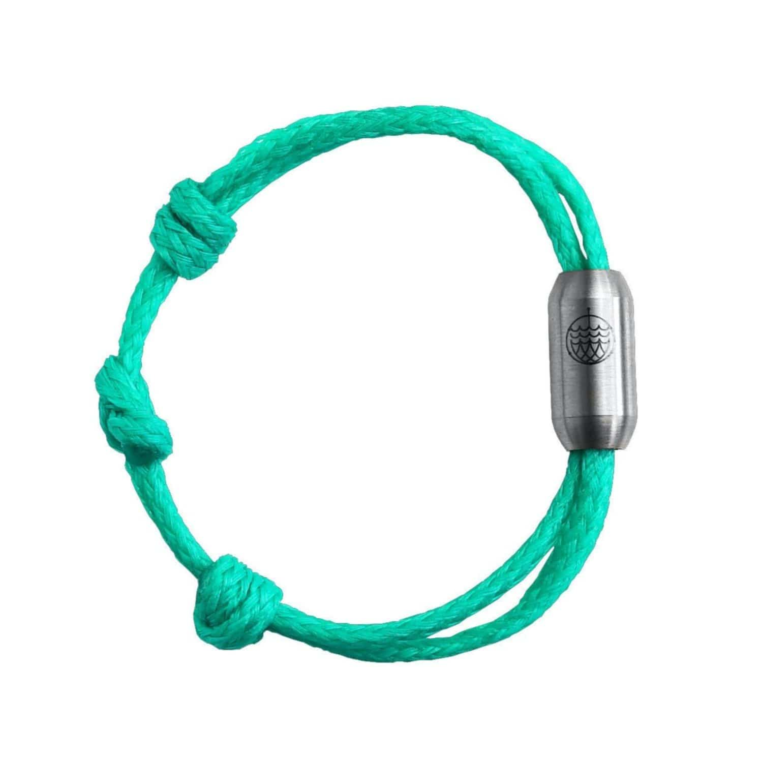 Bracenet sustainable plastic free bracelet eco friendly made of old green recycled fishing nets