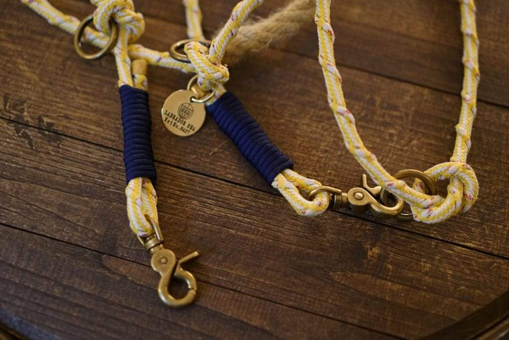 sustainable gifts Bracenet Upcycled fishing nets dog leash - Labrador Sea