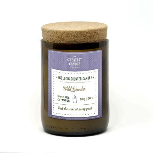 Eco Candle in a bottle - Wild Lavender