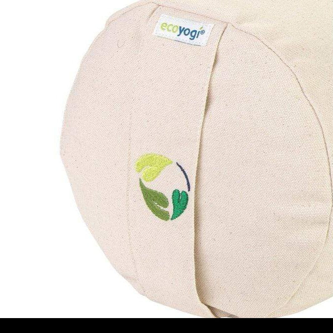 Organic cotton yoga bolster - natural