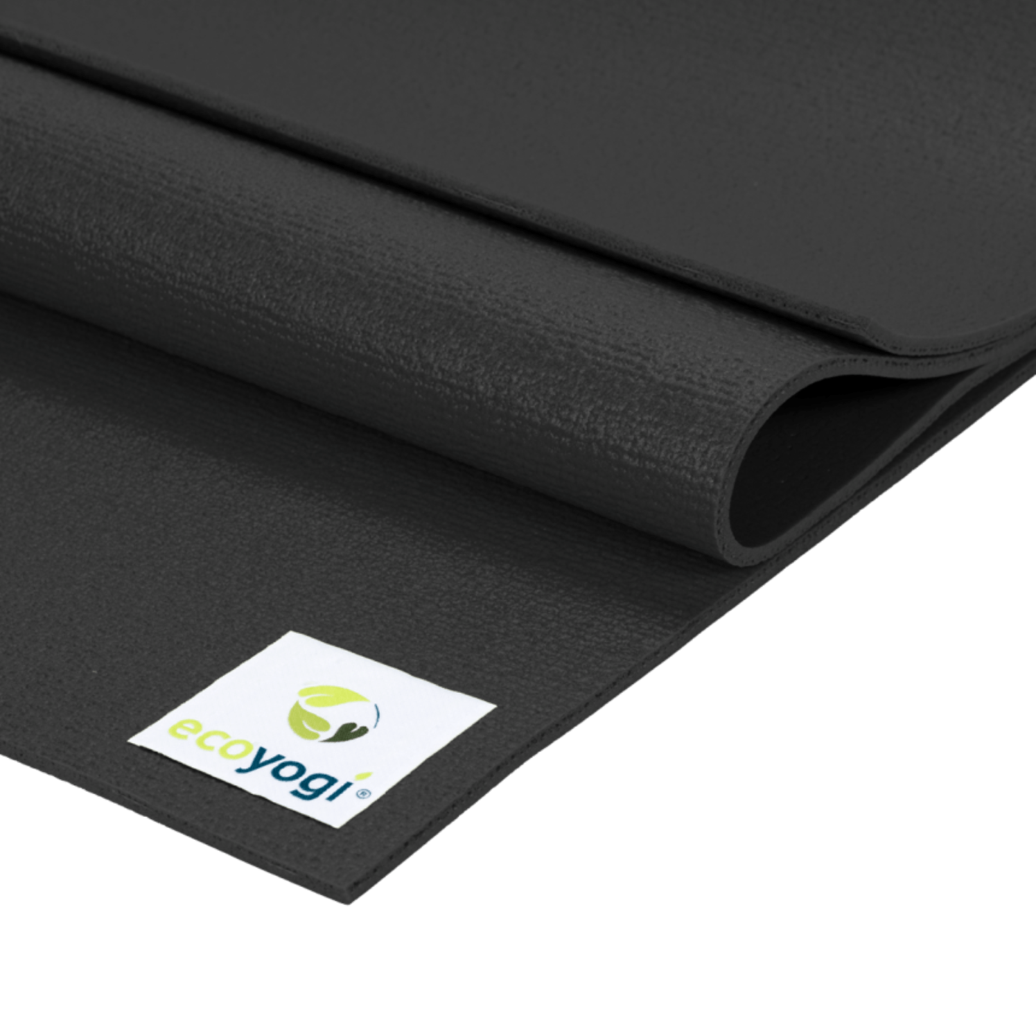 sustainable gifts Ecoyogi Black Emission free yoga mat - black