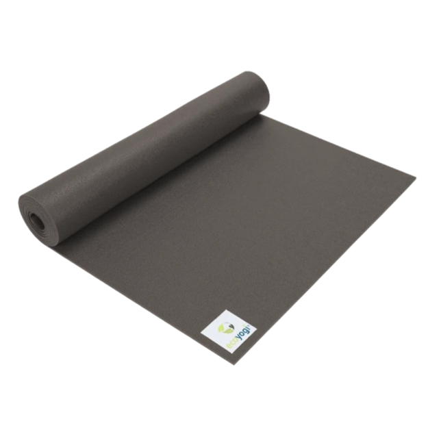Emission free PVC yoga mat certified grey