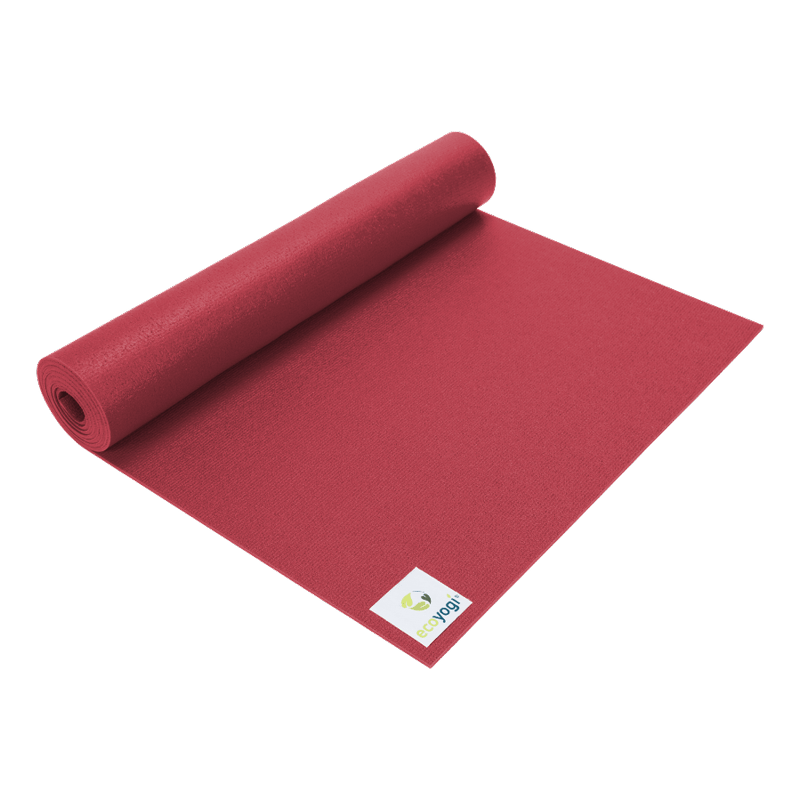 Emission free PVC yoga mat certified red