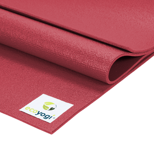 sustainable gifts Ecoyogi Red Emission free yoga mat - red