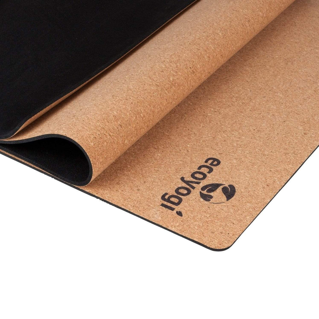 sustainable gifts Ecoyogi Sustainable cork yoga mat on natural rubber