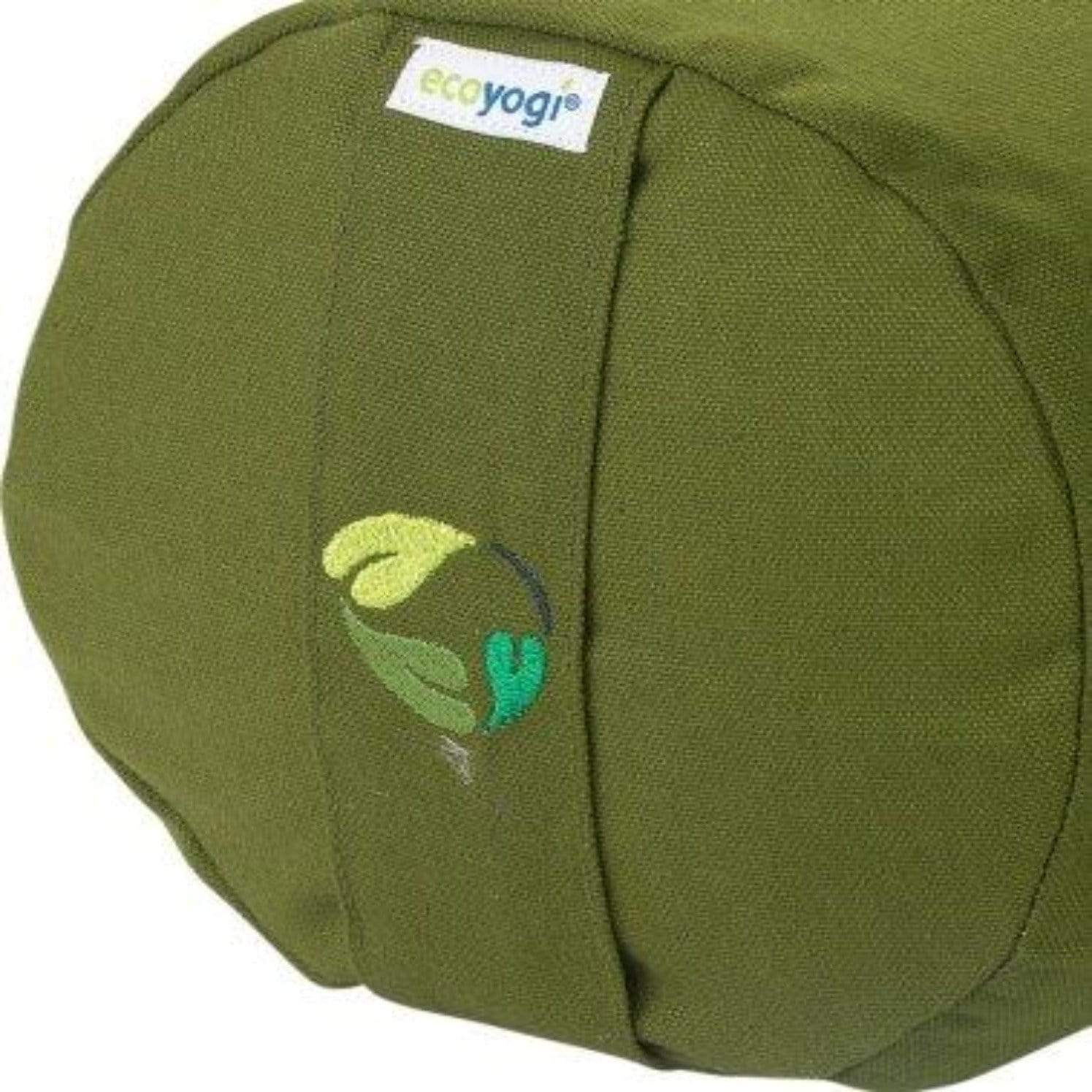 sustainable gifts Ecoyogi Olive green Organic cotton yoga bolster - olive green