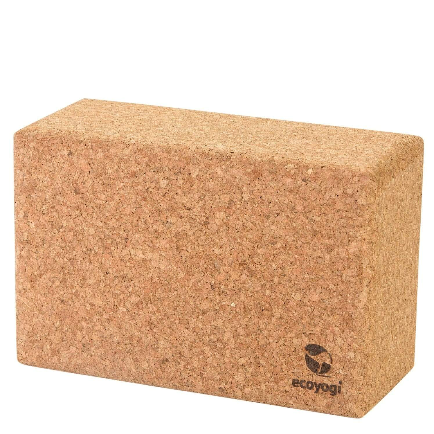 Sustainable and eco friendly cork yoga block in FSC certified natural cork