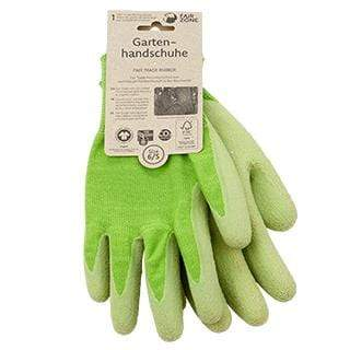 Eco friendly garden gloves certified fair trade cotton and natural rubber