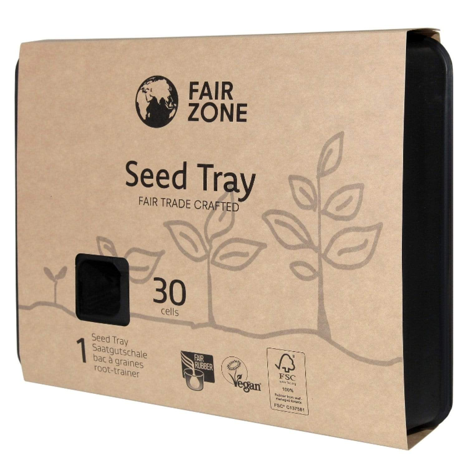 Sustainable and fair plastic free root trainer certified natural rubber