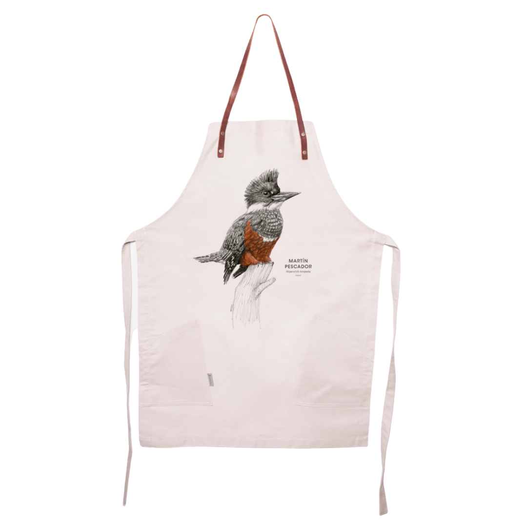 sustainable gifts Garuga Save the chilean kingfisher - apron