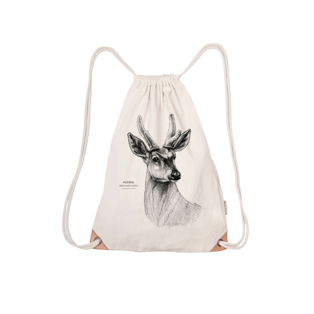 Save the chilean deer - drawstring bag