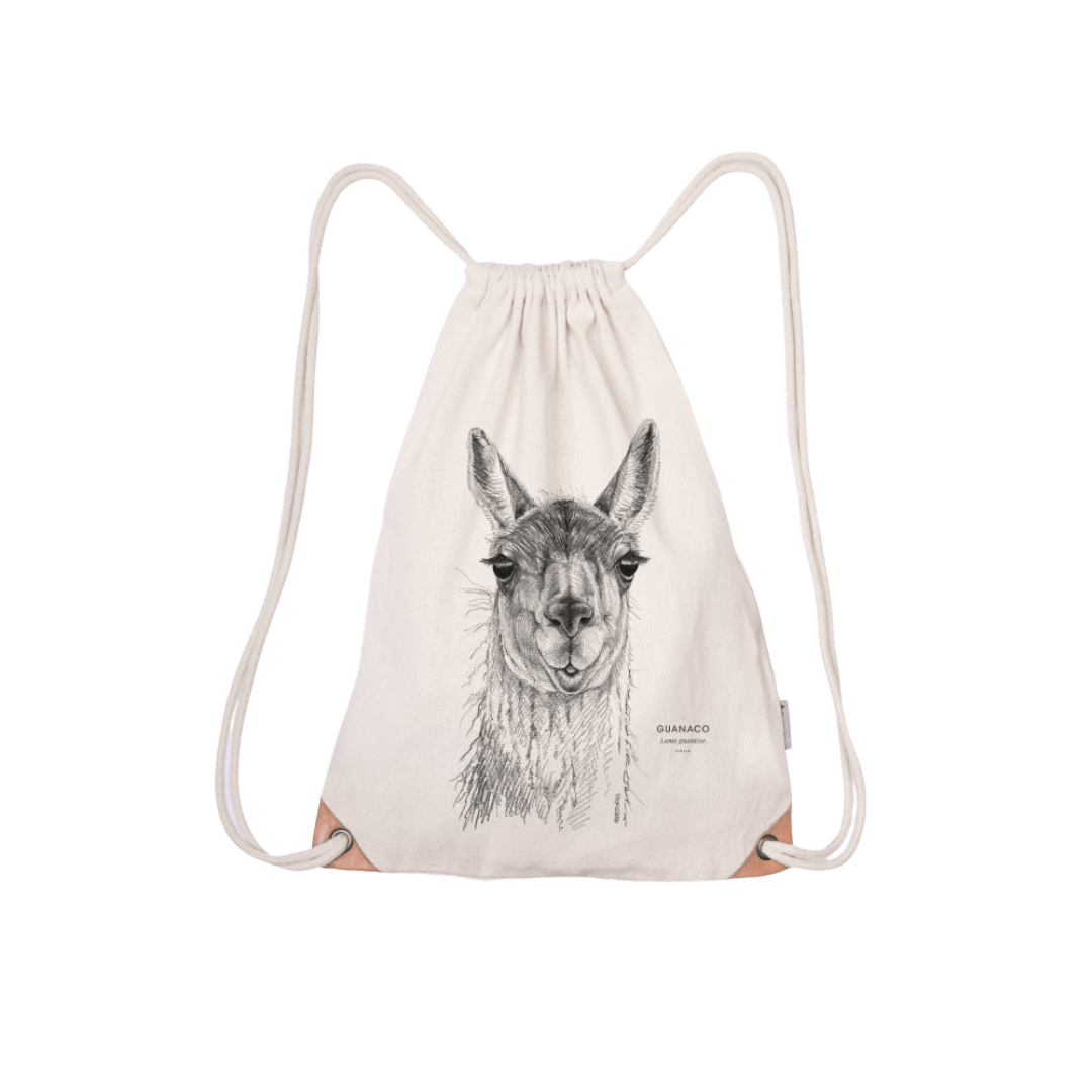 Save the chilean guanaco - drawstring bag