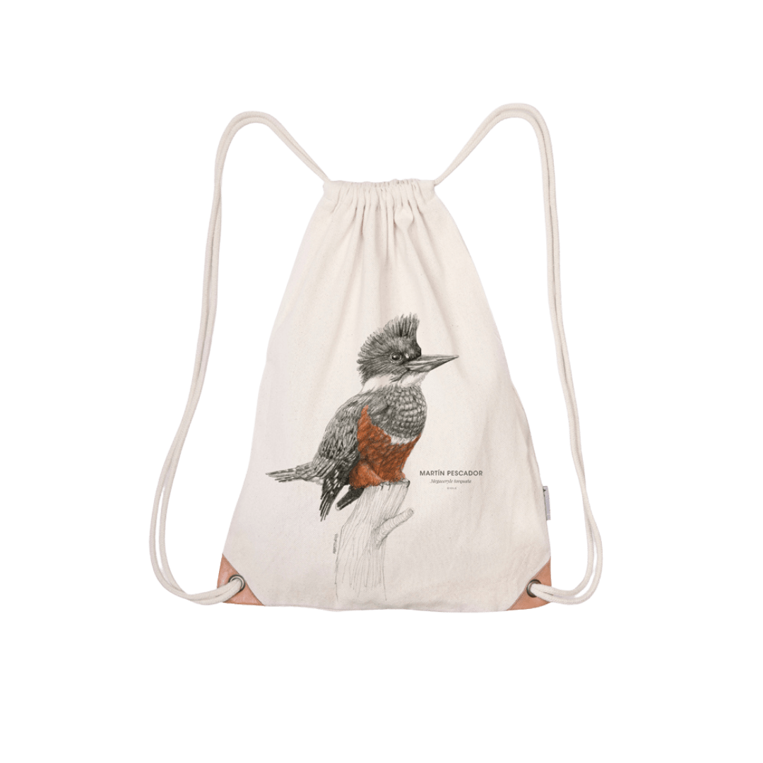 Save the chilean kingfisher - drawstring bag