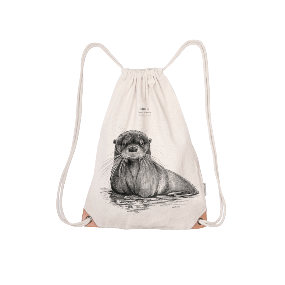 Save the chilean otter - drawstring bag