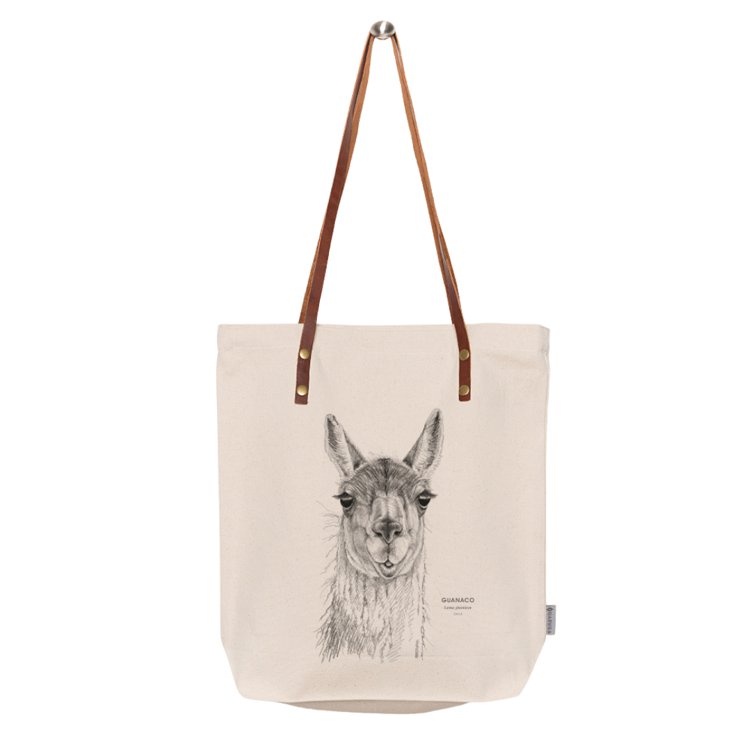 Sustainable gift Garuga totebag for conservation of guanaco in Patagonia