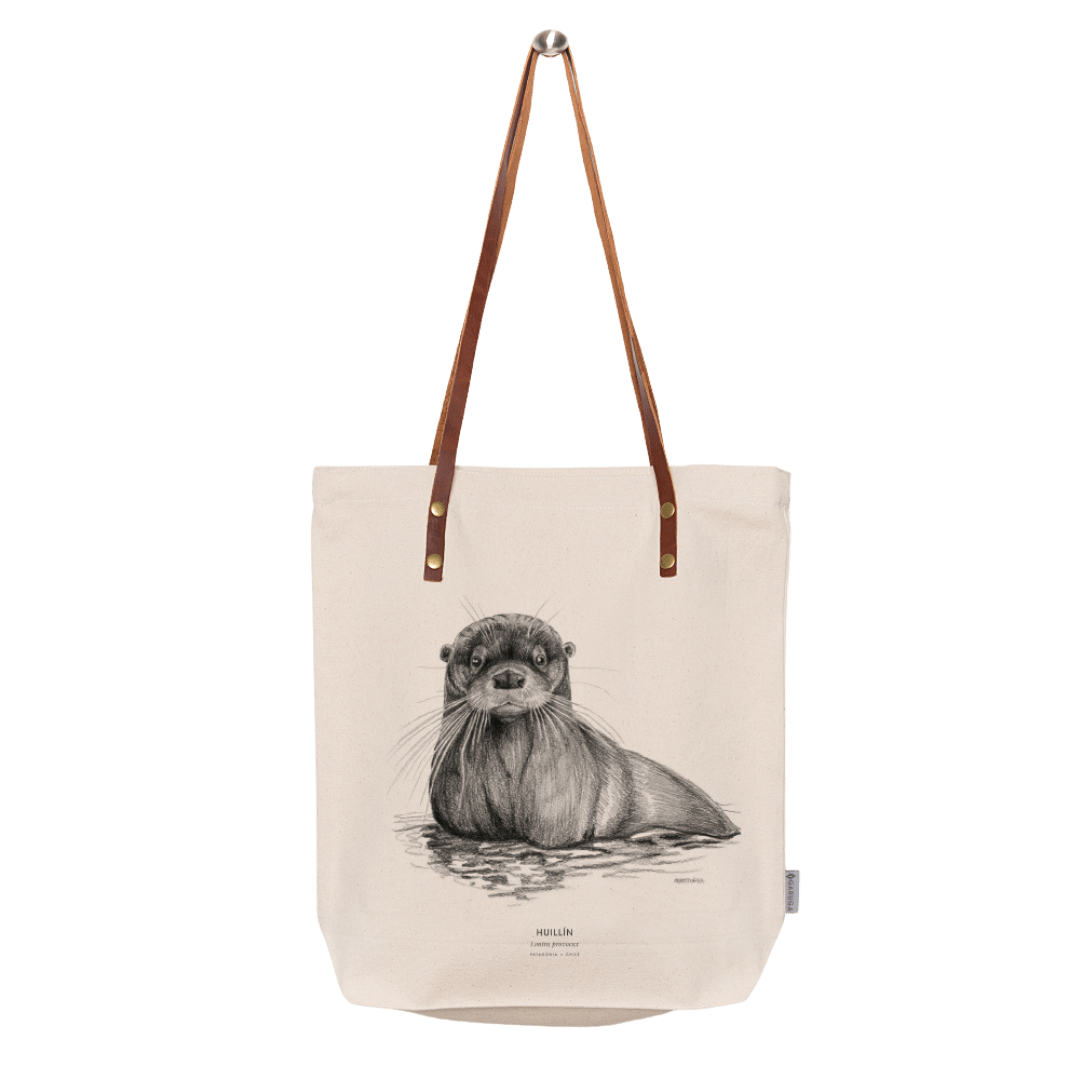 sustainable gifts Garuga Save the chilean otter - totebag